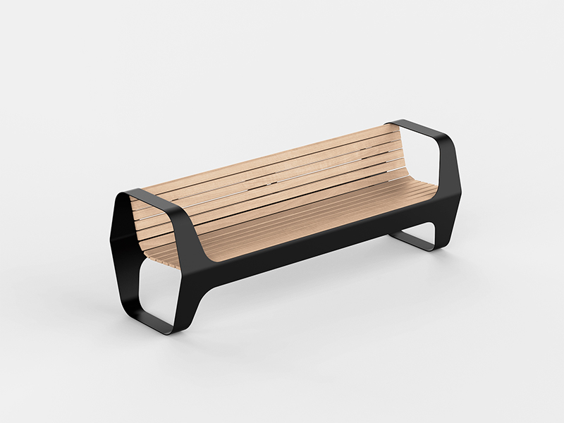 Panchina con schienale | Bench with Backrest